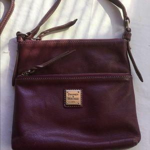 Burgundy leather Dooney & Bourke messenger bag